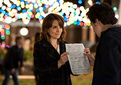 (l to r) Tina Fey stars as Portia Nathan and Nat Wolff stars as Jeremiah Balakian in Paul Weitz's 'Admission', a Focus Features Release.