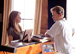 Kelly Preston and Greg Kinnear as the divorced Kim and Steve Miller