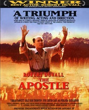 Duvall wrote, directed, funded, and starred in 'The Apostle'