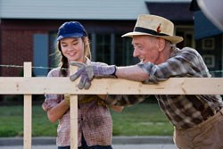 Juli with Bryce's grandfather Chet (John Mahoney)