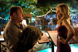 Griffin, a porcupine, and Stephanie (Leslie Bibb)