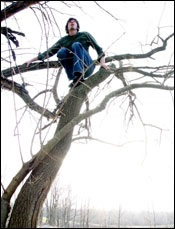 Garrels loves climbing trees