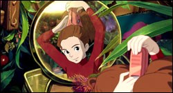 Arrietty, voiced by Bridgit Mendler