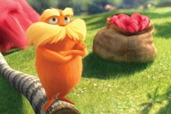 Danny Devito voices The Lorax