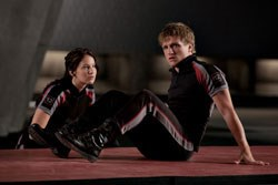 Katniss (Jennifer Lawrence) and Peeta (Josh-Hutcherson)