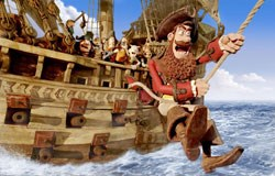 Pirate Captain (voiced by Hugh Grant)
