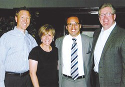Focus on the Family employees John Fuller, Juli Slattery, President of the National Hispanic Christian Leadership Conference Samuel Rodriguez, and Focus President Jim Daly.