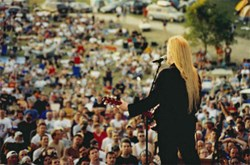 Larry Norman on the main stage in 2003