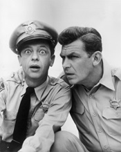 With Don Knotts, aka Deputy Barney Fife