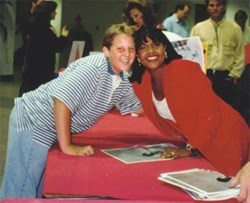 A young Greer and CeCe Winans