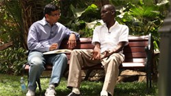 Dinesh D'Souza with George Obama, the President's brother