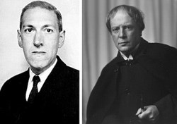 H.P. Lovecraft (left) and Arthur Machen