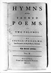 Wesley, Charles - Hymnbook