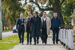 Simon Pegg, Paddy Considine, Eddie Marsan, Nick Frost, and Martin Freeman in THE WORLD'S END