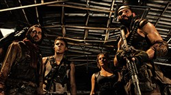 Jordi Mollà, Katee Sackhoff, Raoul Trujillo, Dave Bautista, and Nolan Gerard Funk in RIDDICK