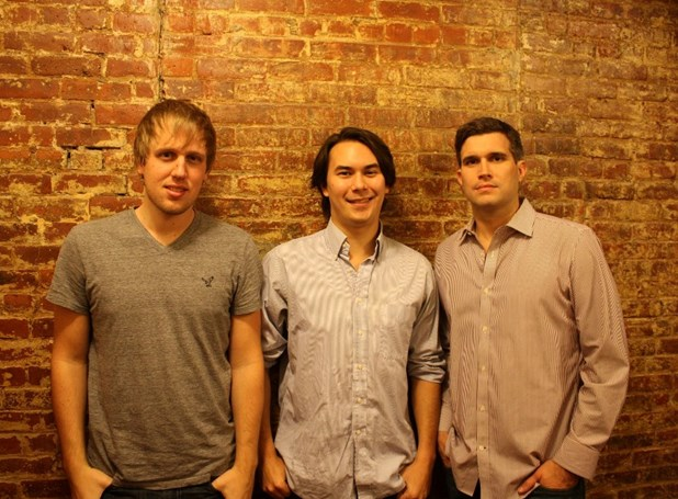 Glenn Ericksen, Sean Coughlin (center), and Ryan Melogy, the co-founders of FaithStreet.