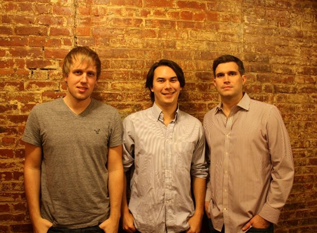 Glenn Ericksen, Sean Coughlin (center), and Ryan Melogy, the co-founders of FaithStreet.