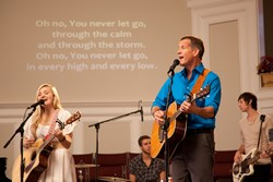 AJ Michalka and James Denton in 'Grace Unplugged.'