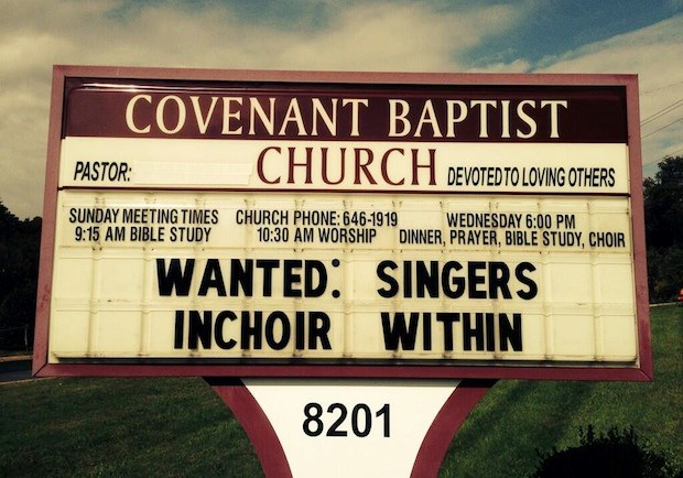 Church Signs of the Week—October 18, 2013