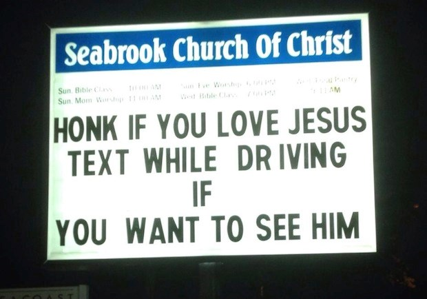 Church Signs of the Week—October 25, 2013
