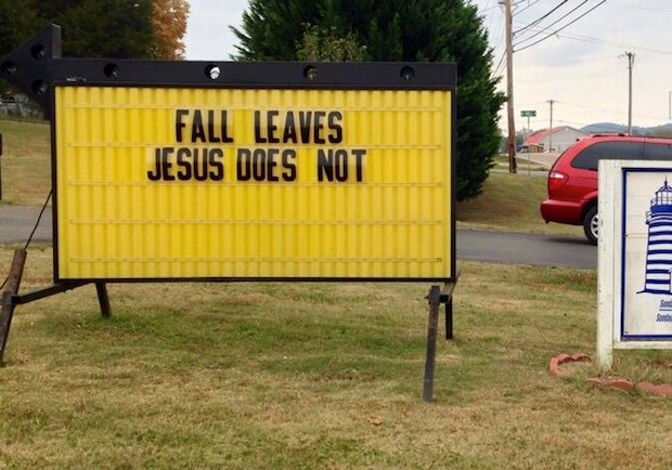 Church Signs of the Week — November 1, 2013