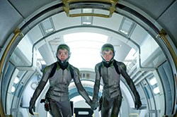 Hailee Steinfeld and Asa Butterman in Ender's Game