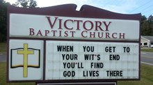 Church Signs of the Week: December 13, 2013