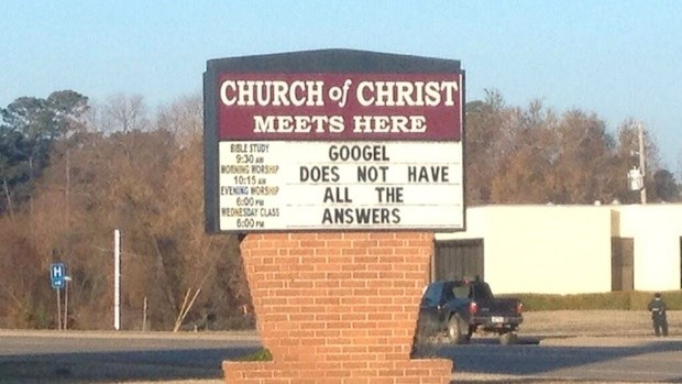 Church Signs of the Week: December 20, 2013