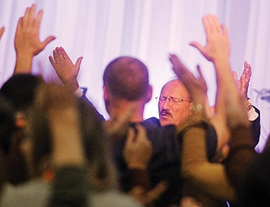 Even new church members prayed for reconciliation.