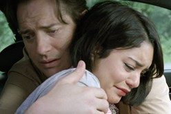 Vanessa Hudgens and Brendan Fraser in 'Gimme Shelter'
