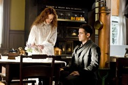 Colin Farrell and Jessica Brown Findlay in 'Winter's Tale'