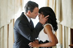 Tony Goldwyn and Kerry Washington in 'Scandal'