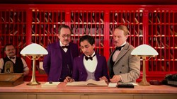 Owen Wilson, Tom Wilkinson, and Tony Revolori in 'The Grand Budapest Hotel'