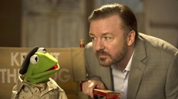 Ricky Gervais in 'Muppets Most Wanted'