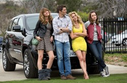 James Marsden, Elizabeth Banks, Sarah Wright, and Gillian Jacobs in 'Walk of Shame'