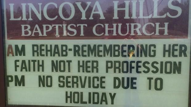 Church Signs of the Week: May 9, 2014