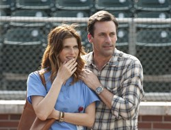 Lake Bell and Jon Hamm in 'Million Dollar Arm'
