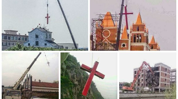 China Lifts High the Cross (Right Off Dozens of Churches)
