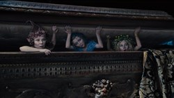 Imelda Staunton, Lesley Manville and Juno Temple in 'Maleficent'