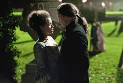 Gugu Mbatha-Raw and Sam Reid in 'Belle'