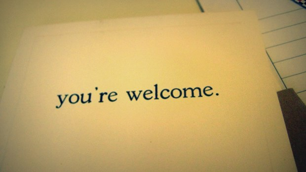 The Christian Call to Say 'You're Welcome'