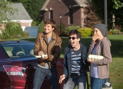 Shailene Woodley, Nat Wolff, and Ansel Elgort in 'The Fault in Our Stars'