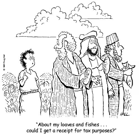 Cartoon: Giving for Tax Purposes | Managing Your Church
