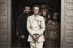 Chris Evans, Octavia Spencer, and Tilda Swinton in 'Snowpiercer'