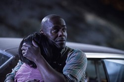 Paterson Joseph and Annie Q. in 'The Leftovers'
