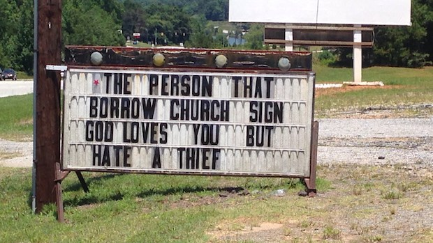 Church Signs of the Week: July 25, 2014