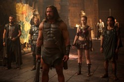 Rufus Sewell, Aksel Hennie, Dwayne Johnson and Reece Ritchie in 'Hercules'
