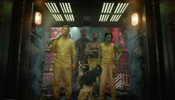 Chris Pratt, Zoe Saldana, and Dave Bautista in 'Guardians of the Galaxy'