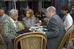 Helen Mirren and Om Puri in 'The Hundred Foot Journey'