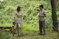 Manish Dayal and Charlotte Le Bon in 'The Hundred Foot Journey'